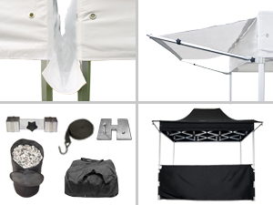 Accessoires voor Easy Up partytent