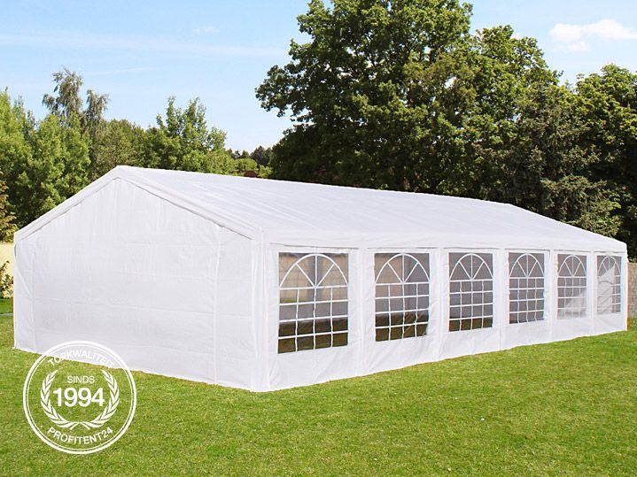 Witte PE partytent.