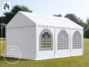 Partytent 4x6 m, PVC 550 g/m² brandvertragend, wit