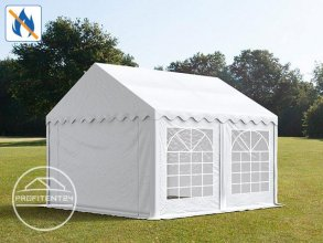 Partytent 3x4 m, PVC 500 g/m² brandvertragend, wit