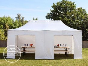 3x6 m Easy Up partytent met zijwanden, PREMIUM, wit