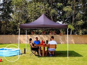 3x3 m Easy Up partytent, zwart