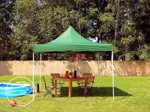 3x3 m Easy Up partytent, donkergroen