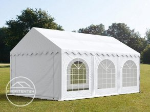 Partytent 4x6 m, PVC 500 g/m², met Grondframe, wit