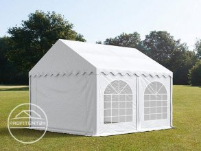 Partytent 4x4 m, PVC 500 g/m², met Grondframe, wit