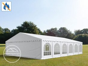 Partytent 8x12 m, PVC 500 g/m² brandvertragend, wit