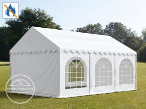 Partytent 4x6 m, PVC 500 g/m² brandvertragend, wit