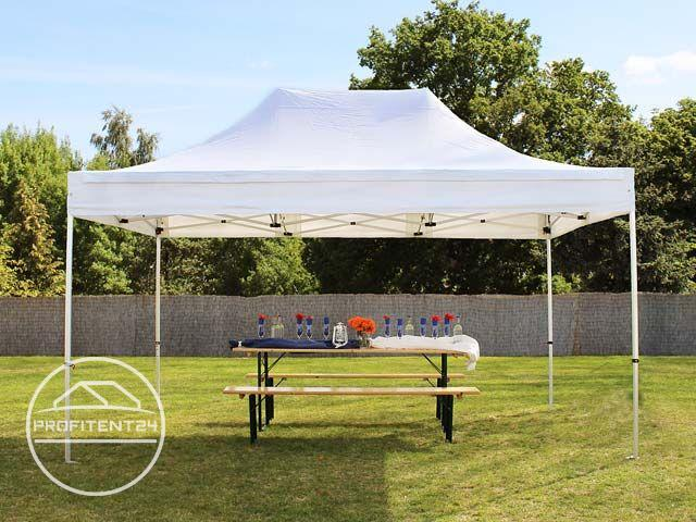 3x4,5 m Easy Up partytent, PREMIUM, wit
