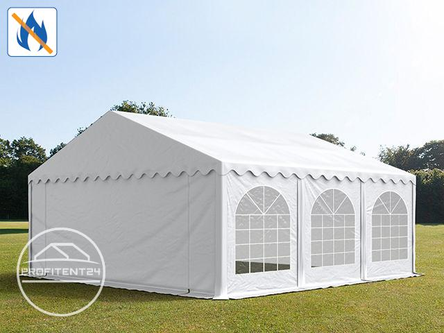 Partytent 5x6 m, PVC 500 g/m² brandvertragend, wit