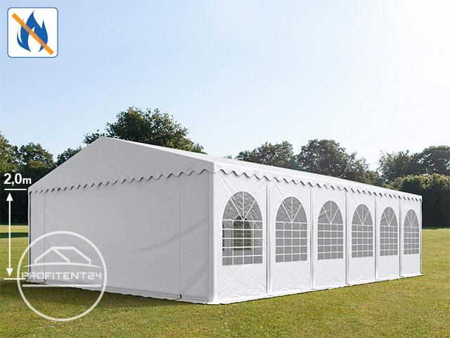 Partytent 8x12 m, PVC brandvertragend wit