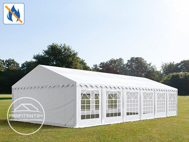 Partytent 6x12 m, PVC 500 g/m², brandvertragend wit