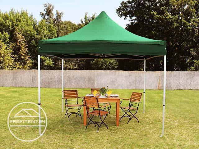 3x3 m Easy Up partytent, PREMIUM, donkergroen