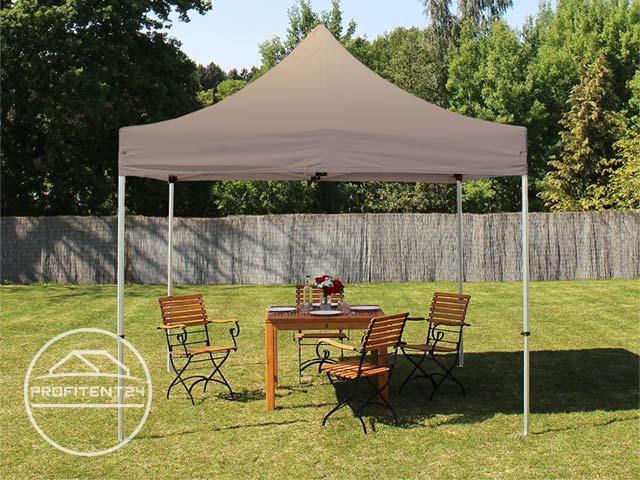3x3 m Easy Up partytent, ALU PROFESSIONAL, taupe