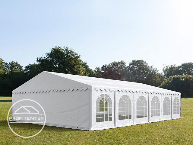 Partytent 8x12 m, PVC 500 g/m², met Grondframe, wit