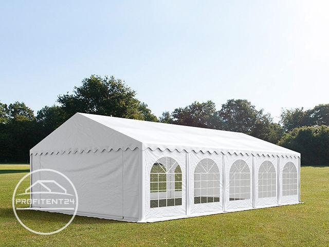 Partytent 5x10 m, PVC 500 g/m², met Grondframe, wit