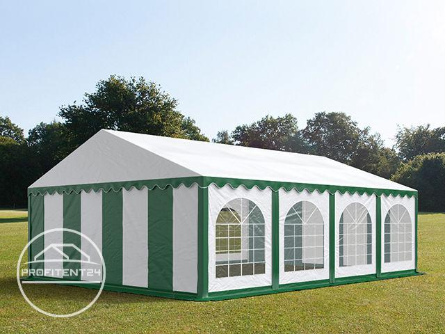 Partytent 5x8 m, PVC 500 g/m², met Grondframe, groen wit
