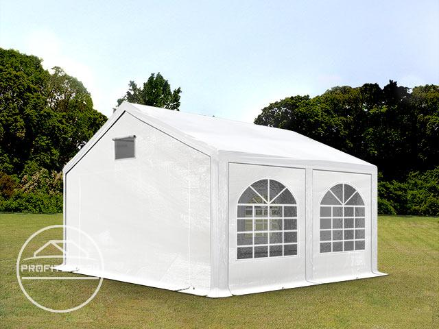Partytent 3x4 m, PE 300 g/m², met Grondframe, wit